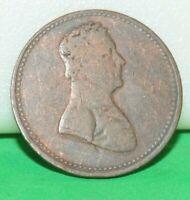 """1825 Canada Trade Token """" To Facilitate Trade """" 1/2 Half Penny"""