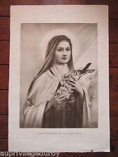 SAINTE THÉRÈSE de L'ENFANT-JÉSUS, d'après un dessin de sa sœur Céline de 1912.