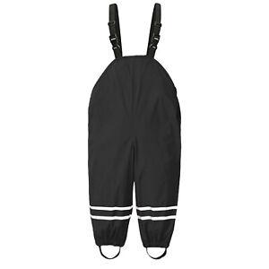 Toddler Kids Boys Girls Rain Dungarees Windproof Waterproof Mud Jumpsuit Clothes
