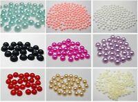 2000 Acrylic Half Pearl Flatback Round Bead 4mm Nail Art Tips Color For Choice