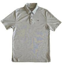 Travis Mathew Short Sleeve Gray Golf Polo Shirt - MEDIUM