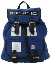 Doctor Who Tardis Police Box Buckle Slouch Backpack Dr. Who Shoulder Bag US SHIP