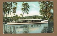 Monroe Pier,MI Michigan, In Government Canal, long boat Leighton 6958, used 1908