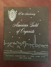 American Guild of Organists 1956 National Convention Program