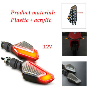 2PCS Orange Motorcycle Turn Signal 22 high-bright LED Light Running Light