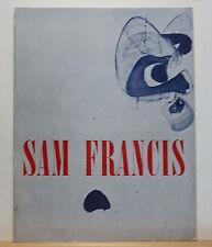 Sam Francis 1967 Exhibition Catalog Houston Modern Art Painting