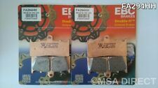 BMW R1100S (12/2000 to 2006) (ABS) EBC Sintered FRONT Brake Pads (FA294HH x 2)