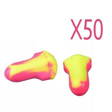 50 Pair Useful Small Ear Plugs  Leight Laser Lite Individually Wrapped Wholesale