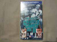 THE NFL'S GREATEST GAMES VOL. II NEW SEALED VHS NFL FILMS 1987 FOX HILLS VIDEO