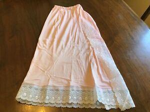 Vintage Nylon Half Slip Lace Hem Soft Pink Size Small ( never worn)