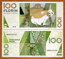 Aruba, 100 florin, 2012, P-19c, New signature combo, UNC > frog florin