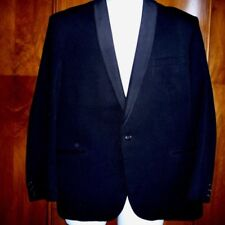 "men's jacket vintage evening black wool tuxedo dinner shawl collar 42"" chest XL"