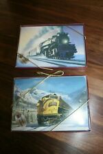 Leanin' Tree Christmas Cards Train Theme Two Boxes 10 Each