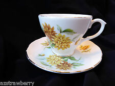 Duchess made in England Yellow Flowers Fine Bone China Tea Cup & Saucer set