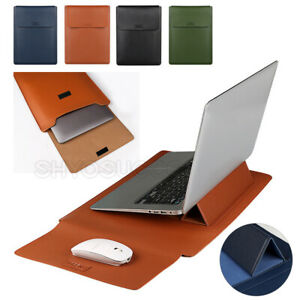 """Leather Envelope Laptop Sleeve Bag Case Stand Cover MacBook Air Pro 12.2"""" 13.3"""""""