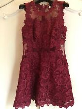 Women's Red Lace Topshop evening dress size UK 10