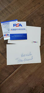 STAN MUSIAL SIGNED 3X5 INDEX CARD ST LOUIS CARDINALS BEST WISHES ADDED PSA DNA