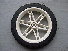 LEGO 81.6 x 15 Technic WHEEL Motorcycle White Rim 8291 8838