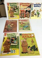 7 Vintage Beetle Bailey Comics. 60s 70s