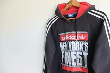 Adidas Originals New York finest hoody sweater  | M | Black Sweater trefoil NY