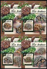 Djibouti 2017 Turtles Set Of Four Souvenir Sheets Mint