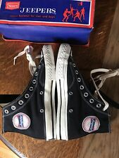 converse black label Sears Jeepers Vintage Basketball Antique Shoes Hightop NIB