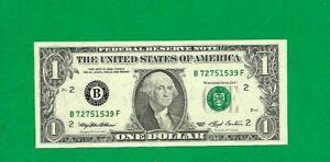 USA BANKNOTE $1 1993 YEAR  E Richmond Star