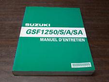 SUZUKI - MANUEL REVUE TECHNIQUE D ATELIER SUZUKI GSF 1250 S A SA BANDIT 2007 K7