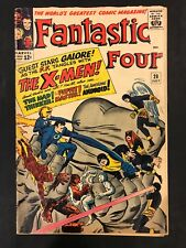 Fantastic Four #28/Silver Age Marvel Comic Book/Early X-Men Crossover Good Condi