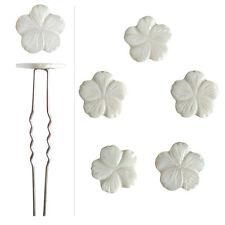 5 épingles pics cheveux chignon mariage mariée fleurs nacre blanc cassé ivoire