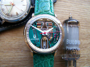Accutron 214 Gold Filled 1971 N1 SPACEVIEW Tuning Fork  rebuilt Great!