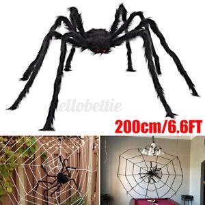 200cm Riesen Spinne Tarantula Plüsch Schwarz Halloween Deko Geisterhaus Horror