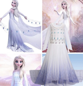 New Elsa Dress Up Girls Fancy Cosplay Kids Costume Party Princess Outfit