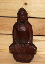 Vintage Asian hand carving wood Buddha figurine
