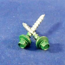 1 1/2in Forest Green Metal Roofing Screws 500pcs