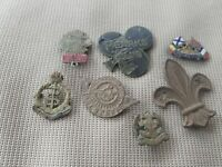 Very old to vintage badges some very rare, PEARKS not even googlable P.R.D L154L