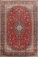 Floral Semi Antique Ardakan Traditional Oriental Hand-Knotted Wool Area Rug 9x14