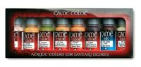 AV Vallejo Game Colour Skin Tones Colours Acrylic Set For Models