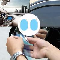 2Pcs Oval Car Auto Anti-Fog Rainproof Rearview Mirror Protective Film Accessory