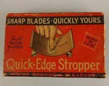 Vintage Quick Edge Stropper Advertising Original Box 1930's 1940's