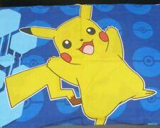 Pokemon Standard Pillowcase Pikachu 2 Sided Blue Yellow