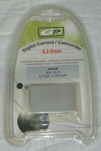 GPI NIKON EN - EL 5 Batterie Battery AKKU CAMERA CAMCORDER Li-Ion   NEUF