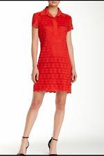 Womens Max Studio Short Sleeve Orange Circle Pattern Dress Sz XL Extra Large