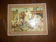 altes Lernspiel / Legespiel / Puzzle Motiv Werkstatt 15x20cm sehr schön