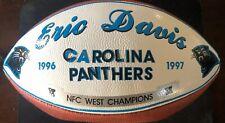 Carolina Panthers ERIC DAVIS SIGNED Ball Game Used Presentation  Football LOA