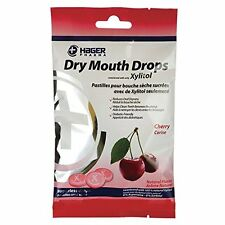 3 Pack Hager Pharma Dry Mouth Drops Xylitol Cherry Sugarless Drops 2 Oz Each
