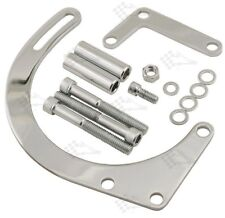 Chrome Low Mount Alternator Bracket Kit - SB Small Block Chevy Short Water Pump
