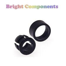 20x 5mm Led Bisel Clip Soporte Montaje (negro) - Con Retenedor - 1st Class Post