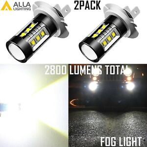 Alla Lighting H7 16-LED 80W-Chip High Power Cornering Light Bulbs Lamps White,2x
