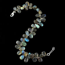 Amazing Top Selling 101.00 Cts Natural Blue Labradorite Pear Beads Bracelet